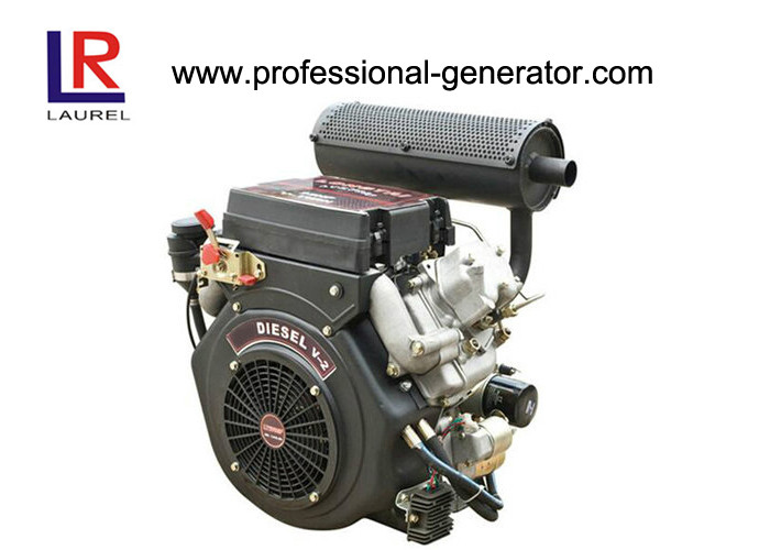 20HP Air Cooled Diesel Powered Engine V Twin , 4 Stroke Electric Start