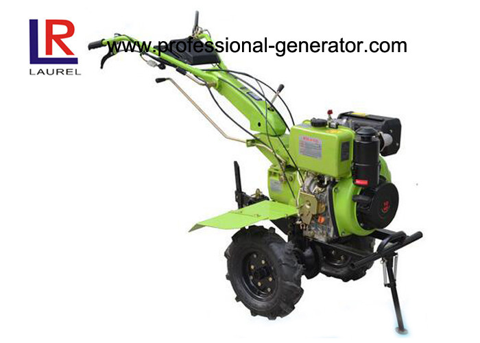 Diesel Power Small Garden Tiller For Agriculture With Forced Air Cooling 173F Engine