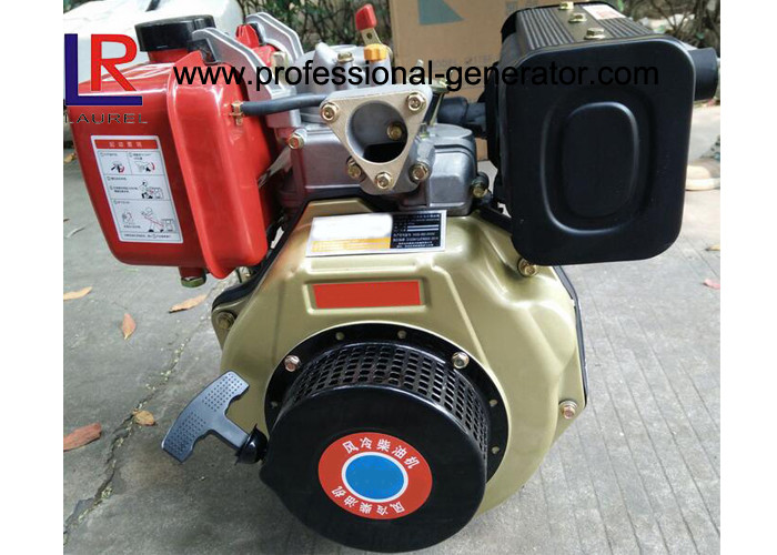 Customized 7HP Single Cylinder Industrial Diesel Engines with Direct Injection , Manual / Electric Start