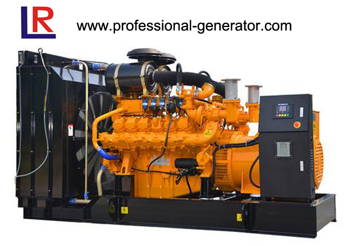 Water Cooled 800 - 1600kw Biomass / Natural Gas Generators with Multi - Cylinder Electric Start