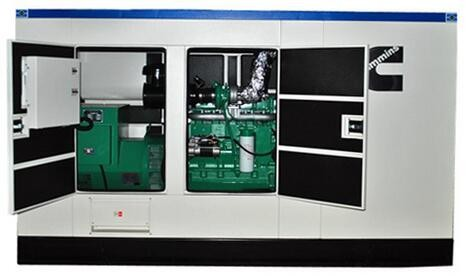 Self - Exciting 250kVA Silent Power Generator , Portable Silent Type Diesel Generator