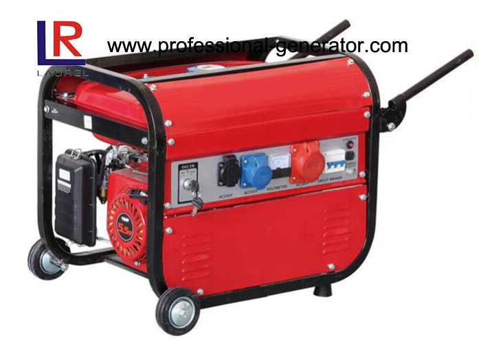 3 Phase 2500Watt Gasoline Generators for Europe , Single Cylinder 4 Stroke Recoil or Key Start