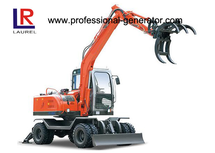 Electric Grapple Flexiable Wheel Excavator For Agriculture 16MPa 65kw