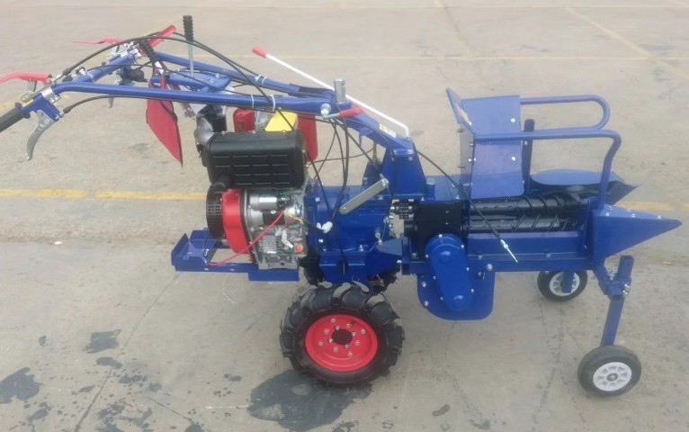 9HP Walk Behind Gasoline Mini Corn Harvester / Farming Machinary